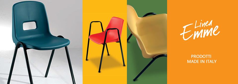 Metalsedie produzione sedie metalliche e non per ufficio for Linea emme arredamenti